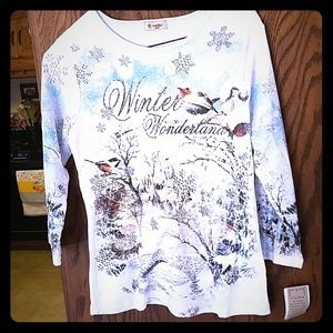 Cactus Shirt, holiday winter pattern